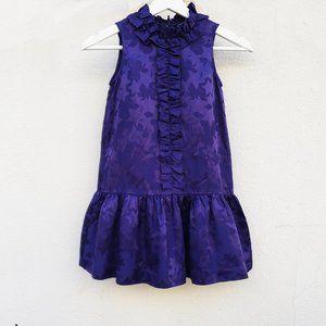 Little Marc Jacobs Purple Star Peplum Shirt Dress
